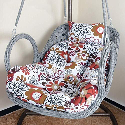 Columpio Colgante Silla Cojín Cojines para sillas columpios, espesar, extraíble, nido de huevos, cojín para silla, sillón reclinable individual, cojín de mimbre, mimbre, cesta colgante, silla, cojín