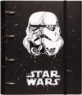Erik - Classeur A4 4 Anneaux - Star Wars Stormtrooper | Classeur Rigide | Fournitures Scolaires, Fournitures de Bureau
