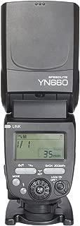 Yongnuo YN660flaş Universal-Blitzschuh, GN 66, ISO 100/200mm, 16kanal, LCD, siyah