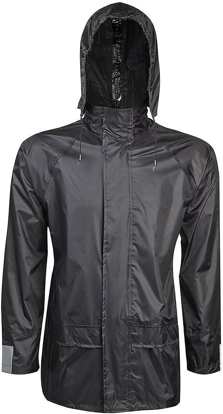 Rimi Hanger Adult Rainwear Waterproof Hooded Jacket Unisex Work Sports Wear Rainwear Coats S/4XL