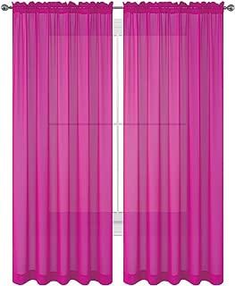 Best fuchsia sheer curtains Reviews