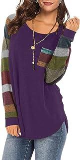 Women's Fall Lightweight Color Block Short Long Sleeve...