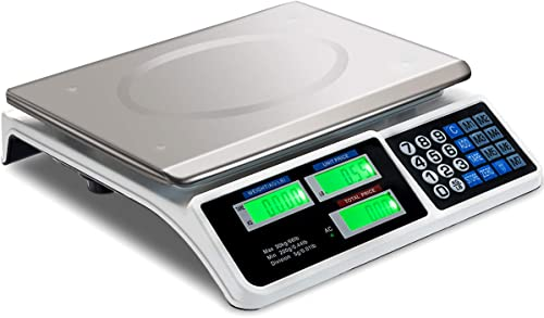 lowest Giantex sale 66 lbs Digital Food Scale, Commercial LCD Digital Scale w/ Computing Price, Accurate Measuring Tool in popular lb and KG, Charged w/ Dry Cell, Accumulator, AC, Stainless Steel Electronic Scale sale