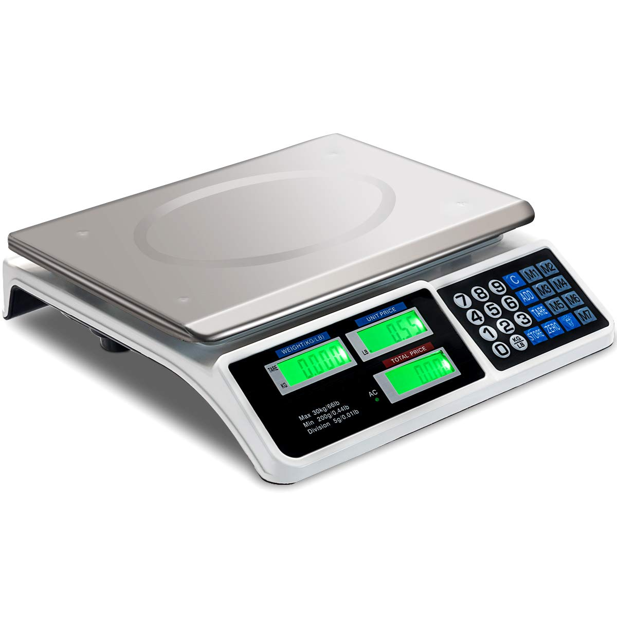 Giantex Limited time latest cheap sale 66 lbs Digital LCD Scale Food Commercial