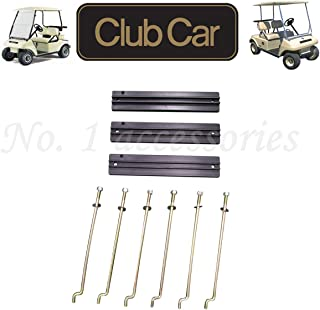 No. 1 accessories Golf Cart Battery Hold Down Plate, Rods, Washers & Nuts,for Club Car DS and Carryall Electric 1998-2005