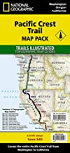 Pacific Crest Trail [Map Pack Bundle] (National Geographic Trails Illustrated Map)