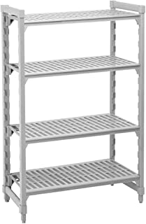 "Cambro Shelving Starter Unit, 42"" x 24"" x 64"", 5 shelves Speckled Gray CPU244264V5-480"