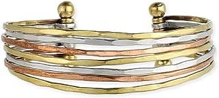 Zad Mixed Metal Hammered Cuff Fashion Bracelet