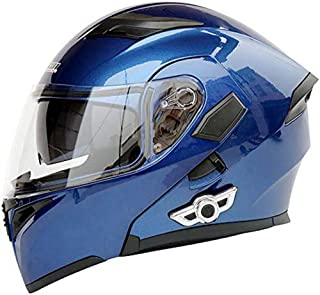 SOSOHELMET Bluetooth Integrated Motorcycle Helmets, Anti-Glare Full Face Flip up Dual Visors Modular Bike Motorcross Helmets Intercom Helmet/Rider to Rider