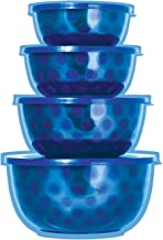 4 pc Stainless Steel Mixing Bowls with Lids – Mixing Bowl Set – Salad Bowl Set – 4 Bowl Sets for Kitchen – Microwave Bowl Set - Serving Bowl Set (Blue)