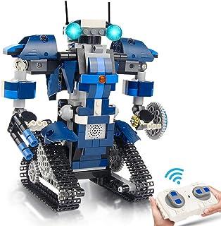 Construcción Robot Juguete ingeniería STEM Robot de control remoto 405 Piezas Conjunto Creativo, vehículos de construcción...
