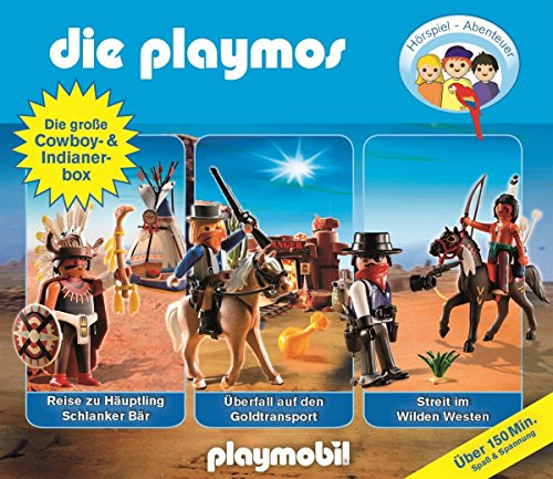 Die Playmos - Die große Cowboy- & Indianerbox (Original Playmobil Hörspiele)