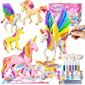 Yileqi Paint Your Own Unicorn Painting Kit, Unicorns Paint Craft for Girls Arts and Crafts for Kids Age 4 5 6 7 8 9 Years Old, Unicorn Party Favor Art Supplies DIY Kit Activities for Kid Birthday Gift by Yileqi