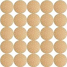 HEMOTON 200 Pcs Forros de Fritadeira de Arame Folhas de Papel de Cozimento Antiaderente Forros de Vapor para Fritadeiras (...