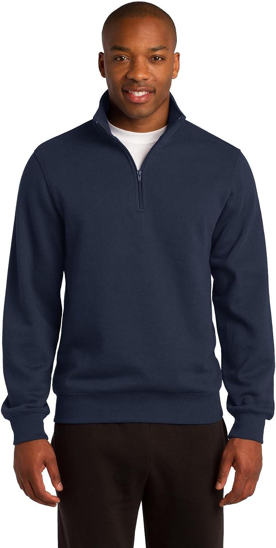 Sport-Tek Men's Big And Tall 1/4-Zip Waistband Sports Sweatshirt,4X Tall,True Navy