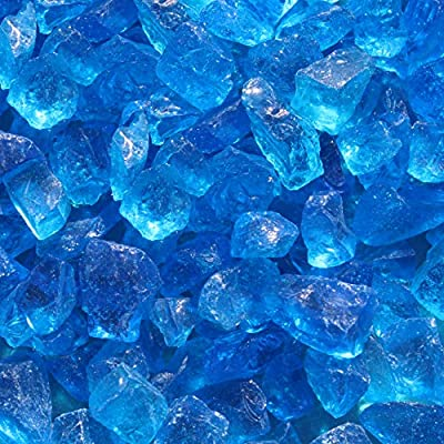 "Blue Ridge Brand Light Blue Fire Glass - 20-Pound Professional Grade Fire Pit Glass - 1/2"" Glass Rocks for Fire Pit and Landscaping - PROFESSIONAL QUALITY - Blue Ridge Brand™ offers professional grade fire pit glass, for both residential and commercial use. All Blue Ridge Brand™ glass is available in 3 oz sample packs so that you can be confident in your color selection. GAS FIRE PITS AND FIRE PLACES - Blue Ridge Brand™ offers beautiful solutions for gas fire pits and gas fire places including glass diamonds, fire glass beads, fire glass cubes, reflective fire glass, non-reflective fire glass, lava rocks / fire pit rocks, and more. NO SHARP EDGES - Every piece of fire pit glass is tumbled to remove sharp edges, making it perfect for fire pits, vase fillers, and garden landscapes. - patio, outdoor-decor, fire-pits-outdoor-fireplaces - 61NBznNEUeL. SS400  -"