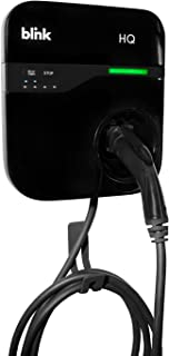 Home Level 2 Electric Vehicle (EV) Charger with $100 Blink Public Charging Credit. Delay Start to optimize Utility Rates. 240V, 30-AMP, 18 Ft Cord. Charges All EVs Including Tesla. SAEJ1772.