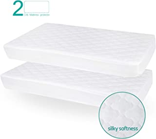 Biloban Crib Mattress Protector Waterproof (2 Pack), for 52