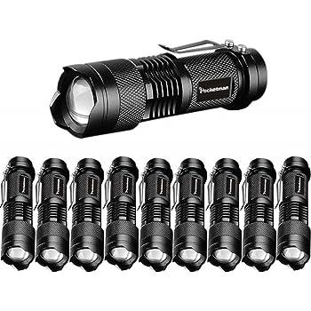 80000Lm Mini Portable Q5 LED Flashlight  Pen Lamp Small Pocket Torch BT