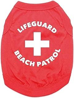 BaxterBoo Lifeguard Beach Patrol Dog Shirt - Red