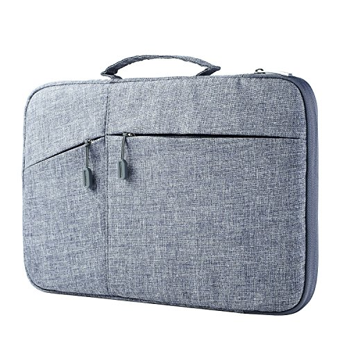 """Megoo 13inch Sleeve Case for Microsoft Surface Laptop 4/3/2/1 13.5"""", Surface Book 3/2/1 13.5"""", Surface Pro X 13"""", MacBook Air/Pro13.3"""", Carry Case with Handle for 13"""" Tablet Chromebook Laptop(Gray)"""