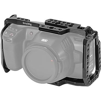 [New Version] SMALLRIG BMPCC 4K & 6K Cage for Blackmagic Design Pocket Cinema Camera 4K & 6K w/Cold Shoe, NATO Rail – 2203