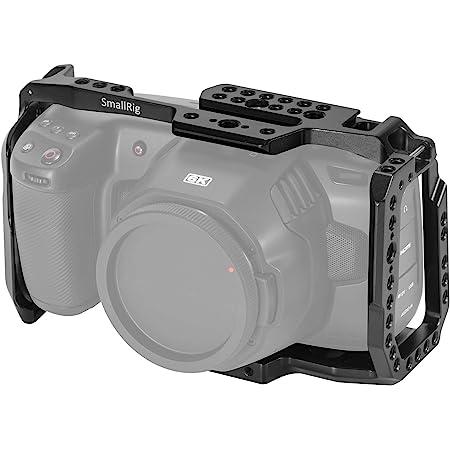 SMALLRIG BMPCC Cage for Blackmagic Design Pocket Cinema Camera 4K w/Cold Shoe, NATO Rail, 1/4'' and 3/8'' Threaded Holes – 2203