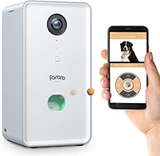 Sponsored Ad - Faroro Dog Camera Treat Dispenser 1080P FHD Night Vision WiFi Pet Tossing Camera with 2-Way Audio for Monit...