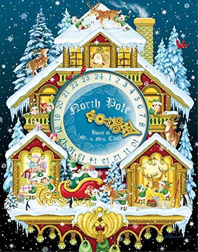 Vermont Christmas Company Calendario dell'Avvento con Ogiva Orologio a cucù di Natale (in Inglese)