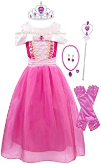 Aurora Costumes Dress Princess Halloween Birthday Party Cosplay Outfit Accessories 1-8 Years