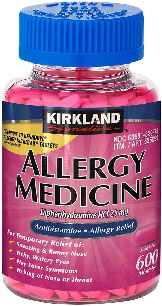 Kirkland High quality new Allergy Medicine Diphenhydramine 25 HCI Dallas Mall 600 Milligram
