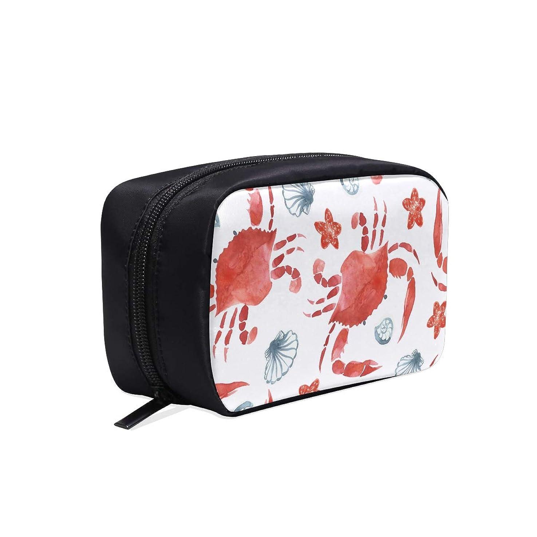 無傷ルーキーランクDMHYJ メイクポーチ カニ ボックス コスメ収納 化粧品収納ケース 大容量 収納 化粧品入れ 化粧バッグ 旅行用 メイクブラシバッグ 化粧箱 持ち運び便利 プロ用