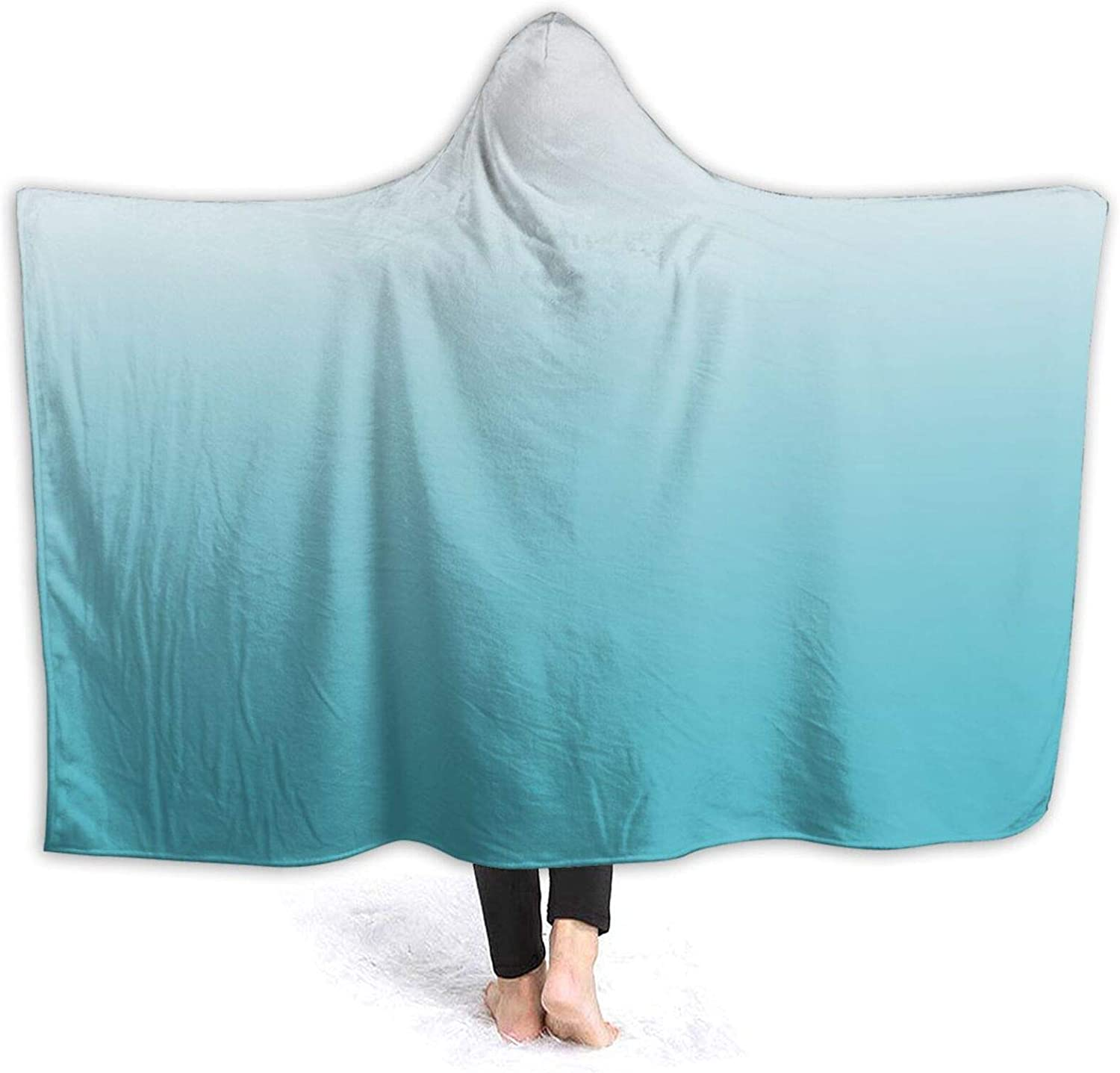 Minalo Wearable Hooded Blanket Plush price Bl Indefinitely Wrap Gradient Watercolor