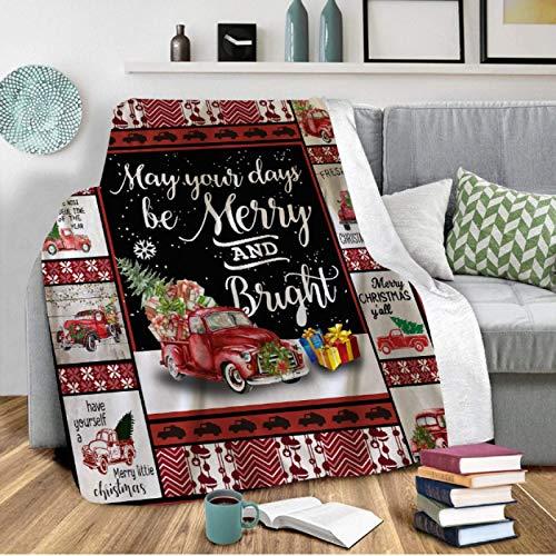 RKZM Merry Christmas Blanket Sherpa Fleece Warm Blanket Couch Bed Sofa TV Plush All Season Blanket Throws Xmas Home Decor 150 * 200cm