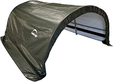 ShelterLogic 8' x 10' x 5' Small Round Livestock and Agricultural Storage and Shade Shelter Kit, Green