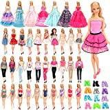 BM 18 Pack Doll Clothes and Accessories 2 PCS Fashion Dresses 2 Tops and Pants Outfits 2 PCS Party Dresses 2 Sets Swimsuits Bikini 10 pcs Shoes for 11.5 inch Doll