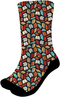 Showudesigns Trainers High Ankle Stocking for Women Men Casual Cozy Crew Socks