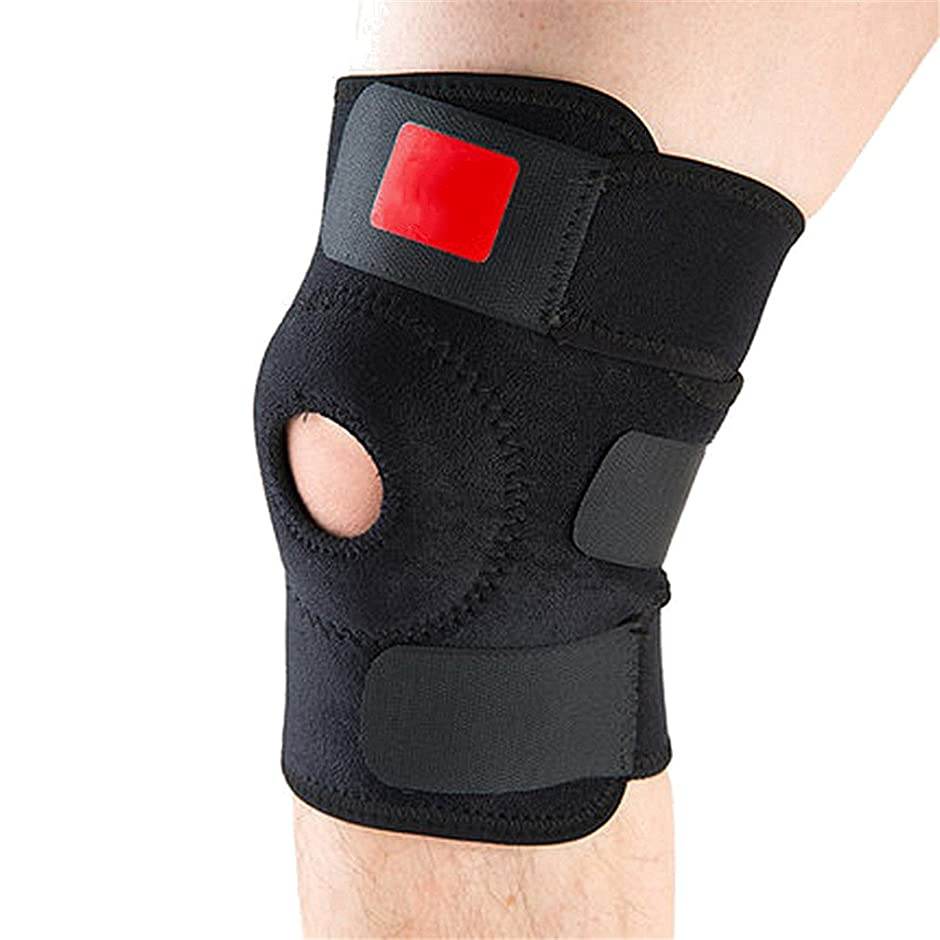 皿嘆願嵐の調節可能な伸縮性膝サポートブレース 膝パッド 膝蓋骨 膝パッドホール スポーツ 膝パッド 安全 ガードストラップ ランニング
