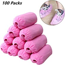 Eforstore Shoe Covers Disposable Non Slip 100 Pairs,Non-Woven Shoes Cover Booties Shoe Covers Dust-Proof Durable Shoe Covers