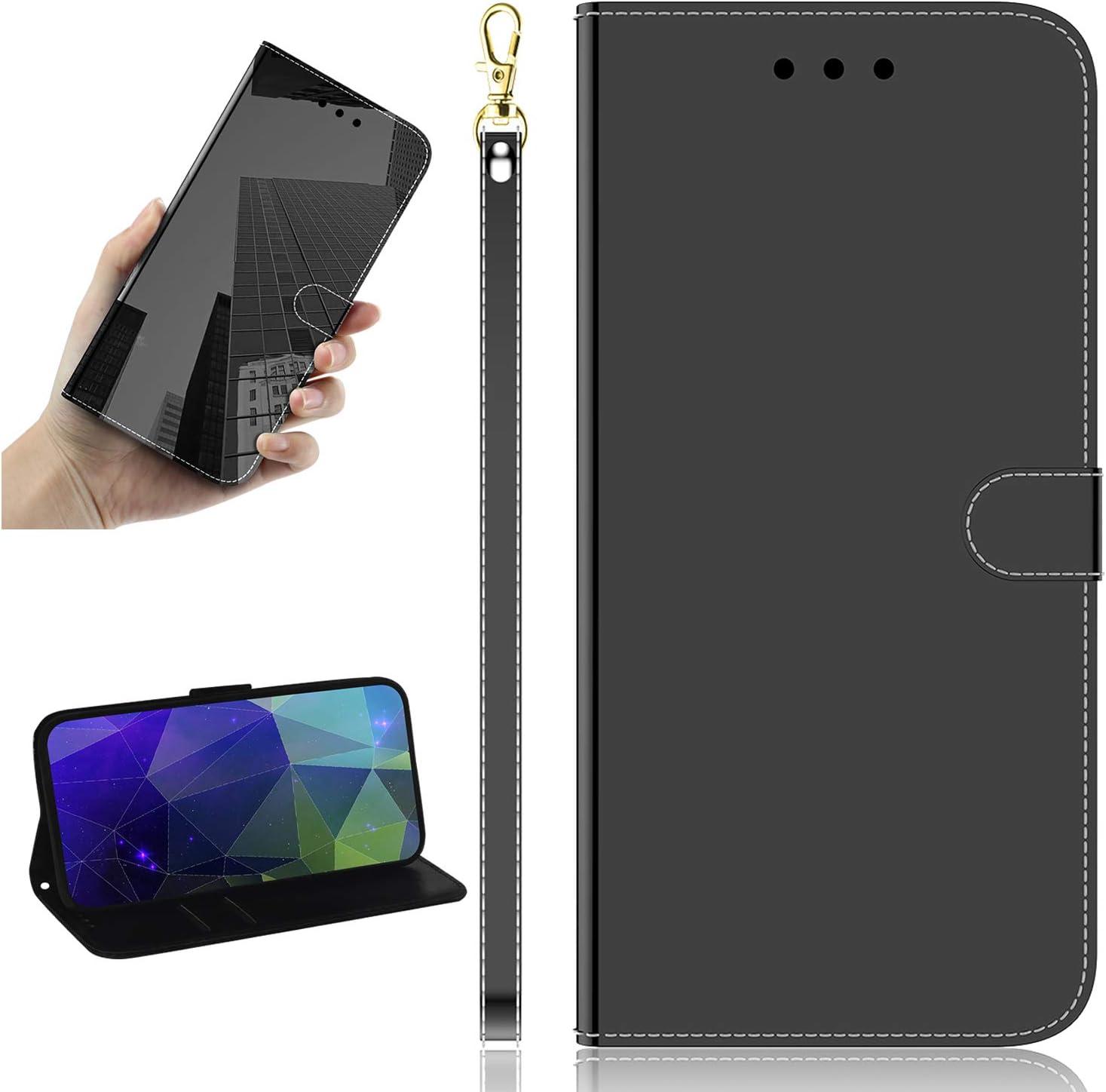 Miagon Mirror Effect depot Leather Case for Huawei Slim New item Pro Mak P30 PU