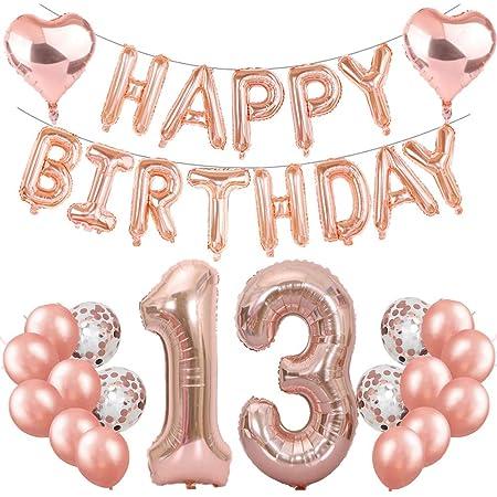 Petite-fille 13 Carte D/'Anniversaire Paillettes Ballons De Luxe Fête Adolescent