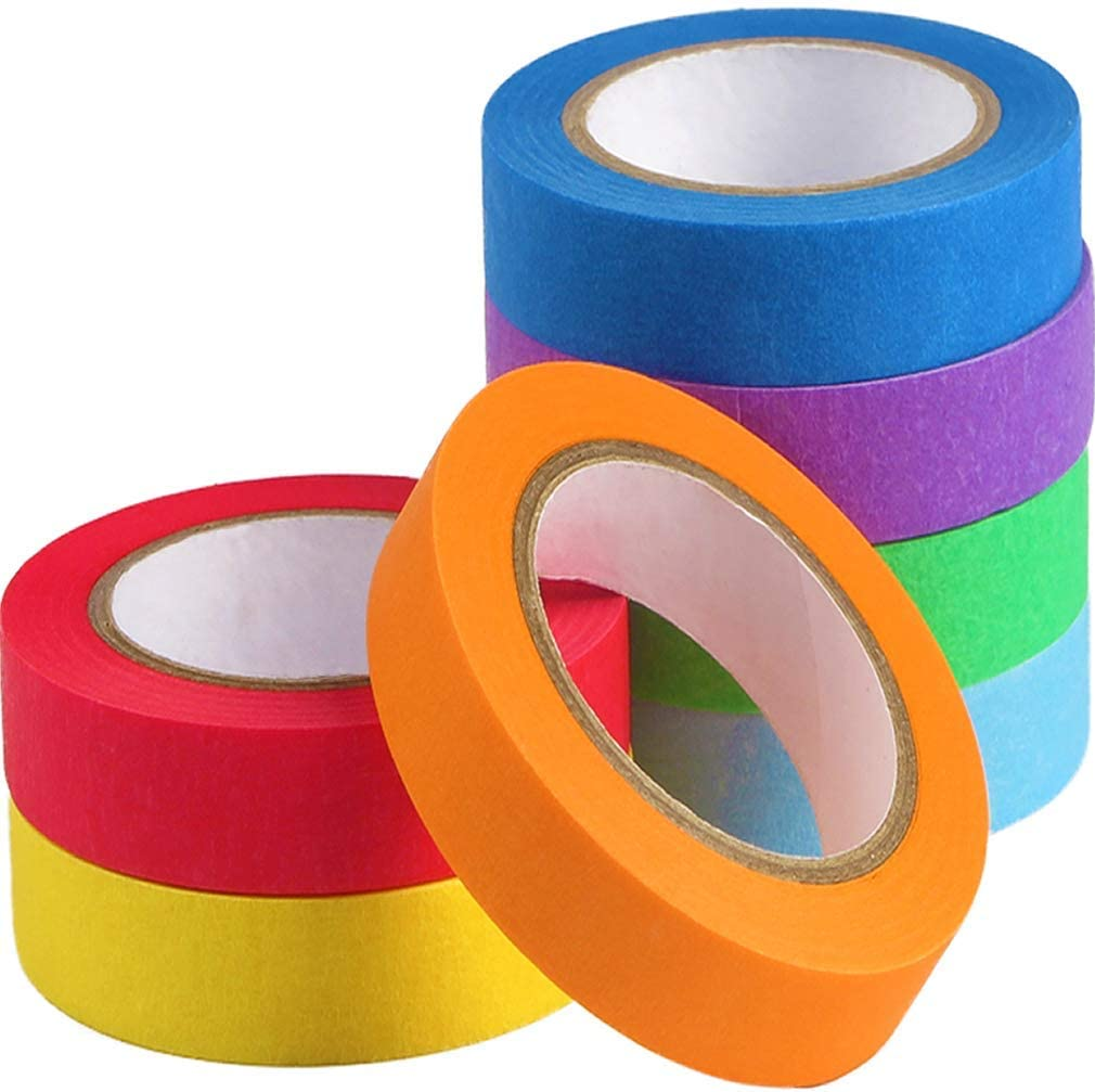 DoAy Colored Painters Masking Decorative Tape 7 1 2