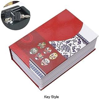 収納 本型隠し金庫 ブックセーフティボックス ロッカーセキュリティ 財布 貴重品 収納ボックス 本棚に溶け込む コンビネーションロック付き プライベートマネー ラブレター 秘密の日記 ロック/パスワードロック付き 隠しヴィンテージブックセーフコンテナ (サイズ : Face Key Type)