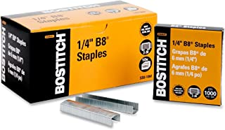 Bostitch B8 PowerCrown Staples, 0.25 Inches, 10,000 Total in 10 Separate 1,000 Count Boxes (SB8-10M)