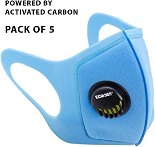 ECO365 UltraLite Mask With Activated Carbon (Pack of 5, Blue)