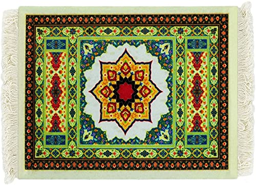 JJDSN Office Supplies Mouse Pad - Persian Carpet Style Rubber Non-Slip Durable Printing Rectangular Gaming Mouse Pad Computer Tablet Pad Non-Slip Base Waterproof