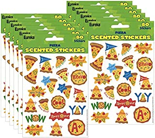 Eureka (12 PK) Pizza Scented Stickers