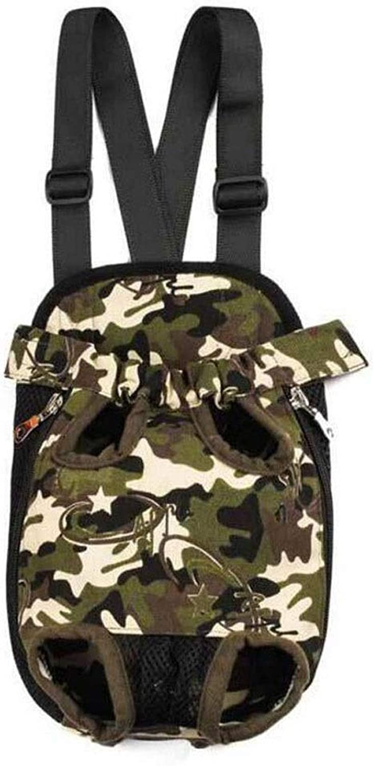 LYLa Backpack box Chest Bag Breathable Cage Cat Dog Backpack Portable Travel (color   Camouflage, Size   L)