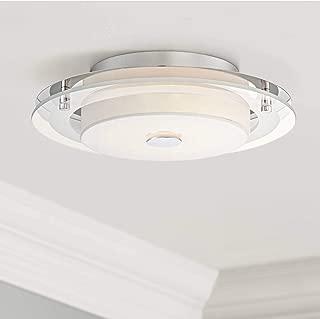 Clarival Modern Ceiling Light Flush Mount Fixture LED Chrome 12 1/2