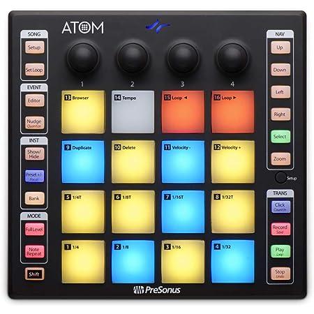 PreSonus Atom Production & Performance Midi Pad Controller with Studio One Artist and Ableton Live Lite DAW Recording Software